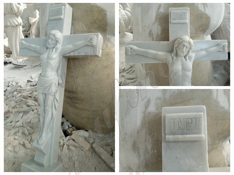 Marble Crucified Jesus Statue for Church Decor Suppliers