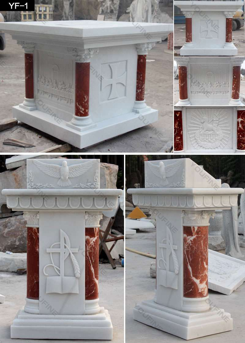 Natural White Marble Pulpit for Church Use Suppliers