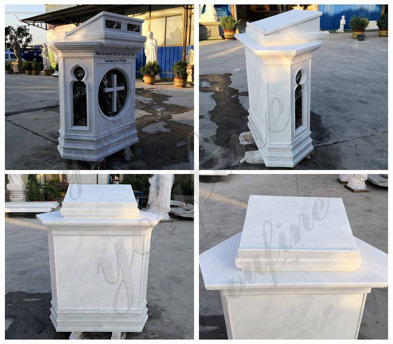 Natural White Marble Pulpit for Church Use