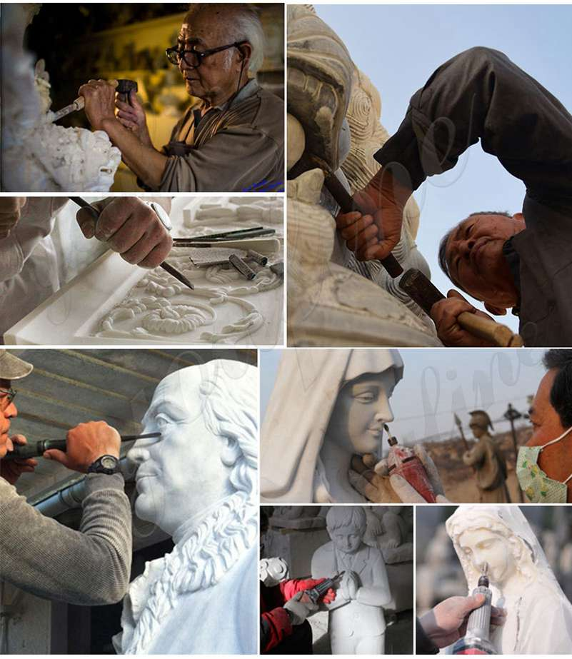 process of Our Lady of Lourdes Statue