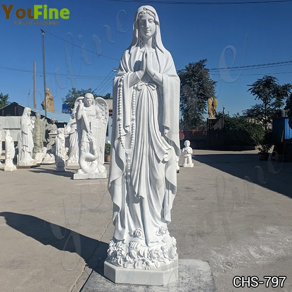 Hand Carving Life Size Our Lady of Lourdes Marble Statue Suppliers CHS-797