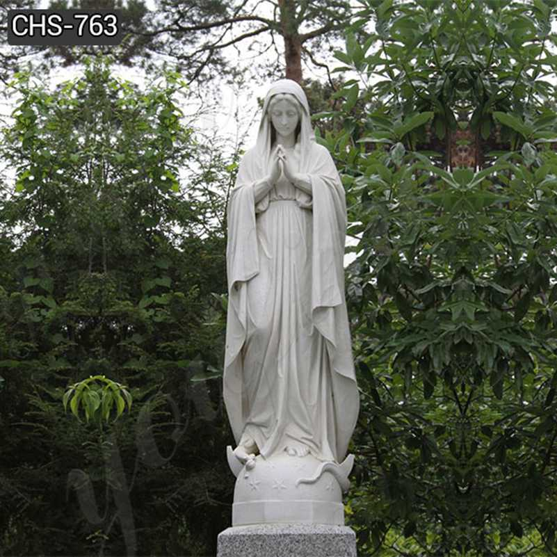 Hot Selling Catholic Our Lady of Mary Marble Statue for Sale CHS-763