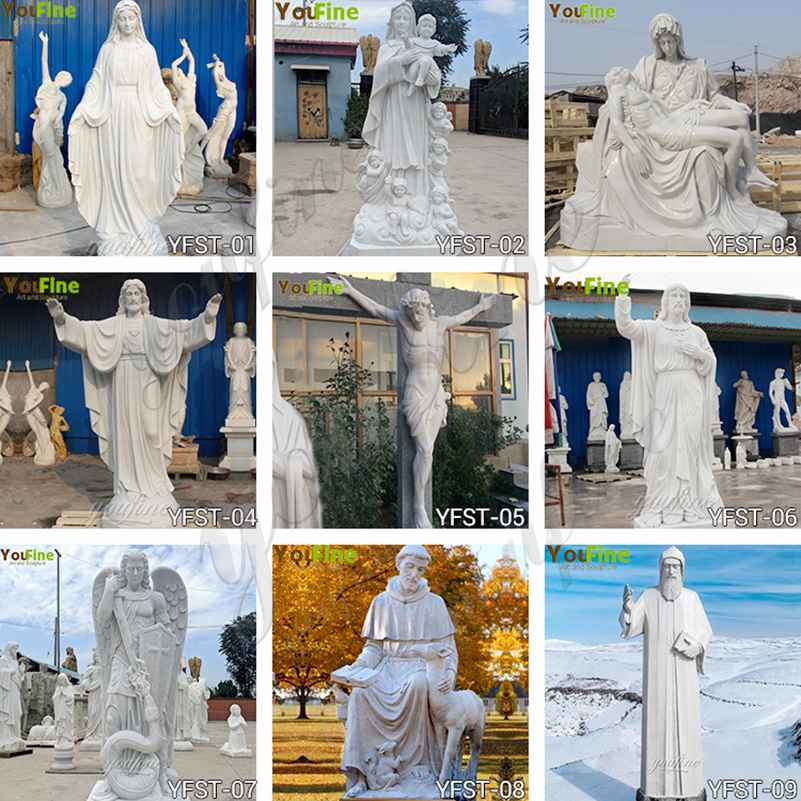 Life Size Our Lady of Lourdes Marble Statue Suppliers
