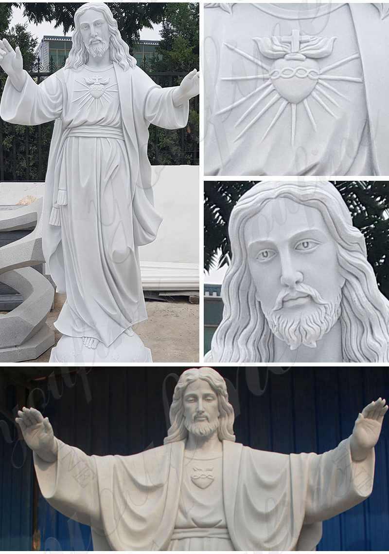 Catholic Marble Jesus Life Size Sculpture