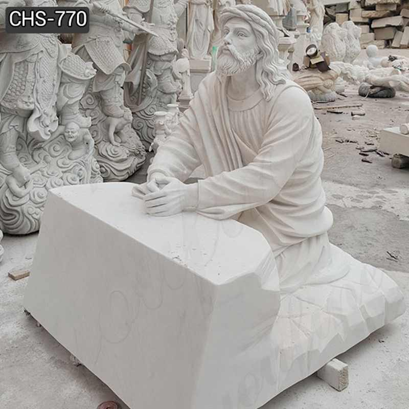 Factory Direct Catholic Marble Jesus Life Size Sculpture for Church CHS-770