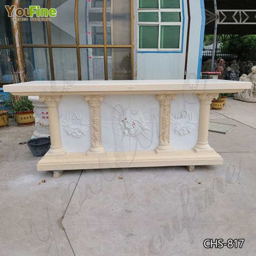Hot Selling Natural White Marble Church Altar from Factory Supply