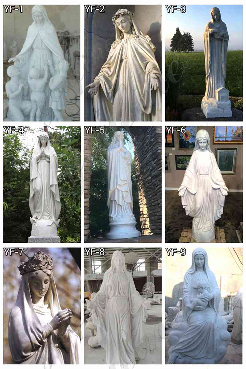 Blessed Mother Mary Marble Statue for Sale