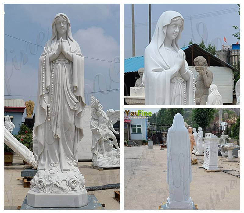 Marble Our Lady of Lourdes Statue for Sale