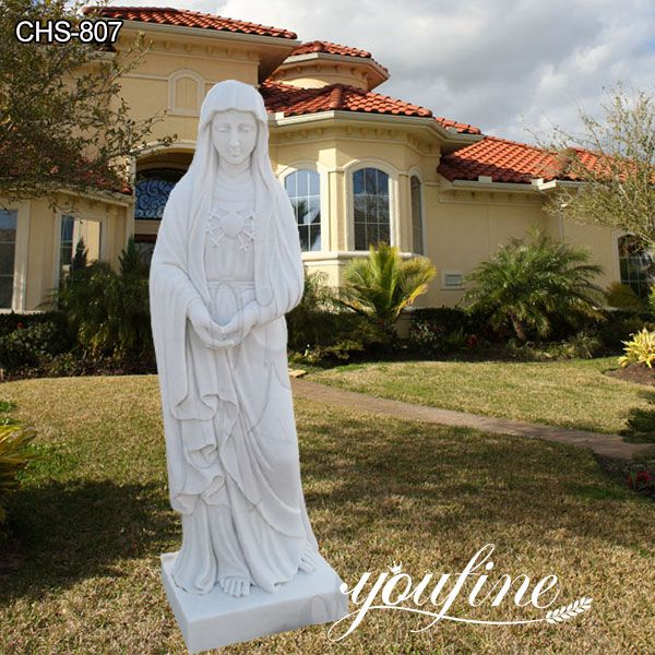 Outdoor Life size Blessed Mother Mary Marble Statue for Sale CHS-807