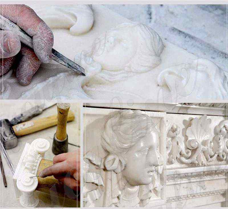 process of White Marble Lourdes Statue