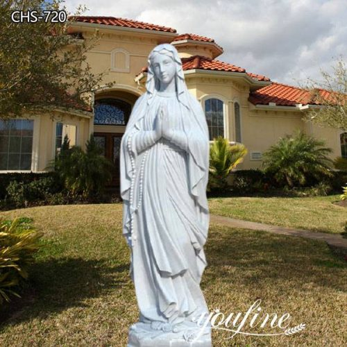 Catholic Life Size Marble Our Lady of Lourdes Statue for Sale