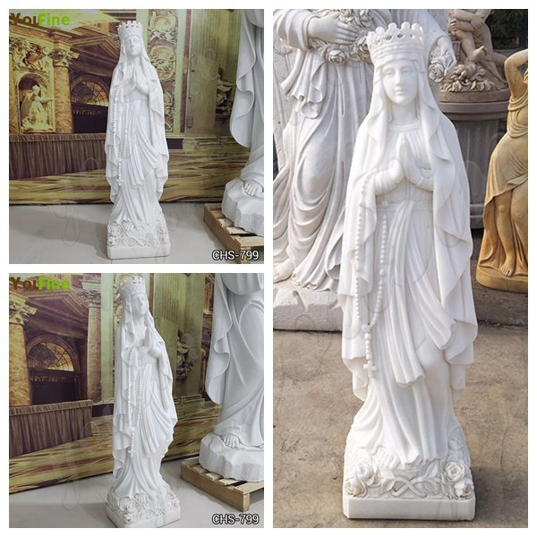 Catholic Marble Religious Statues Our Lady of Lourdes Statue