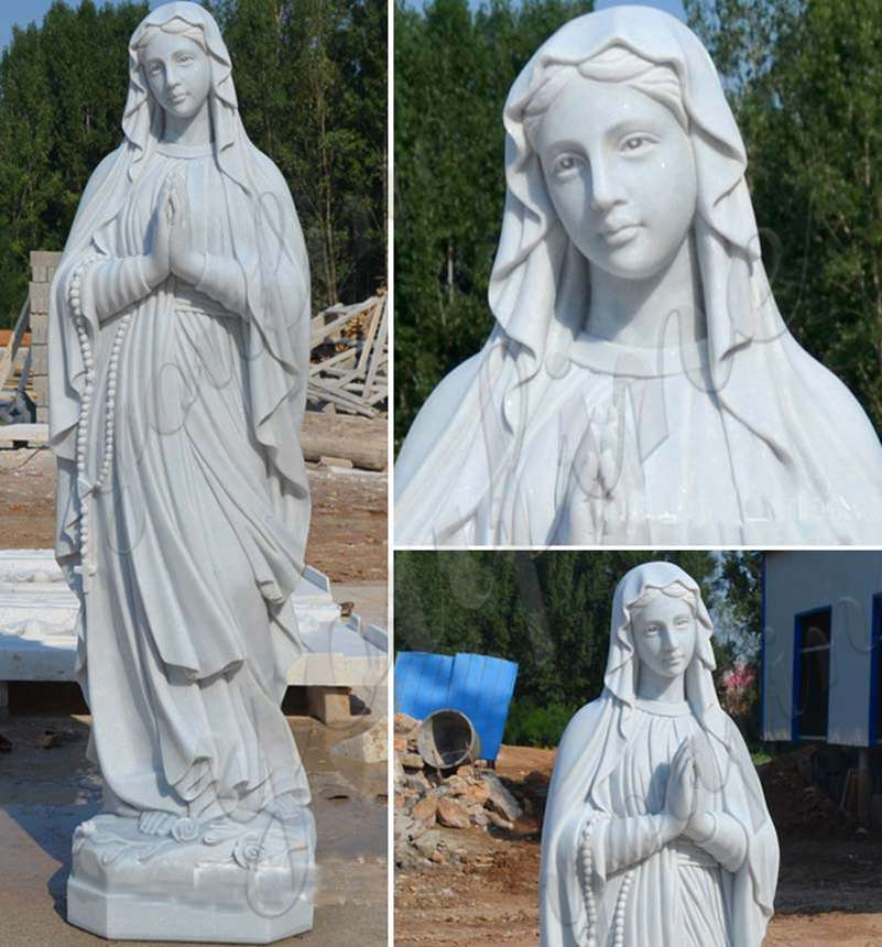 Life Size Marble Our Lady of Lourdes Statue for Sale