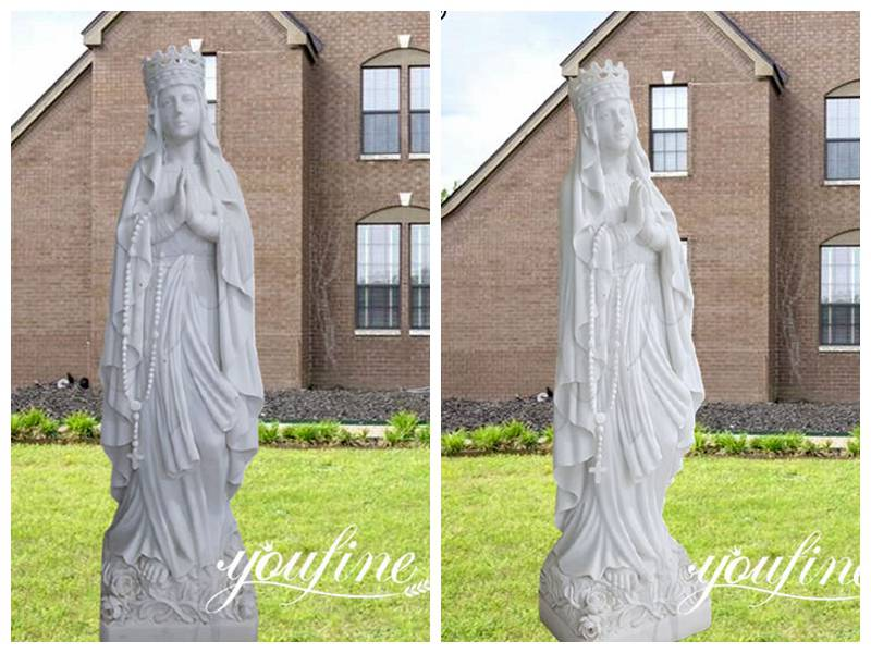 Marble Religious Statues Our Lady of Lourdes Statue for Sale