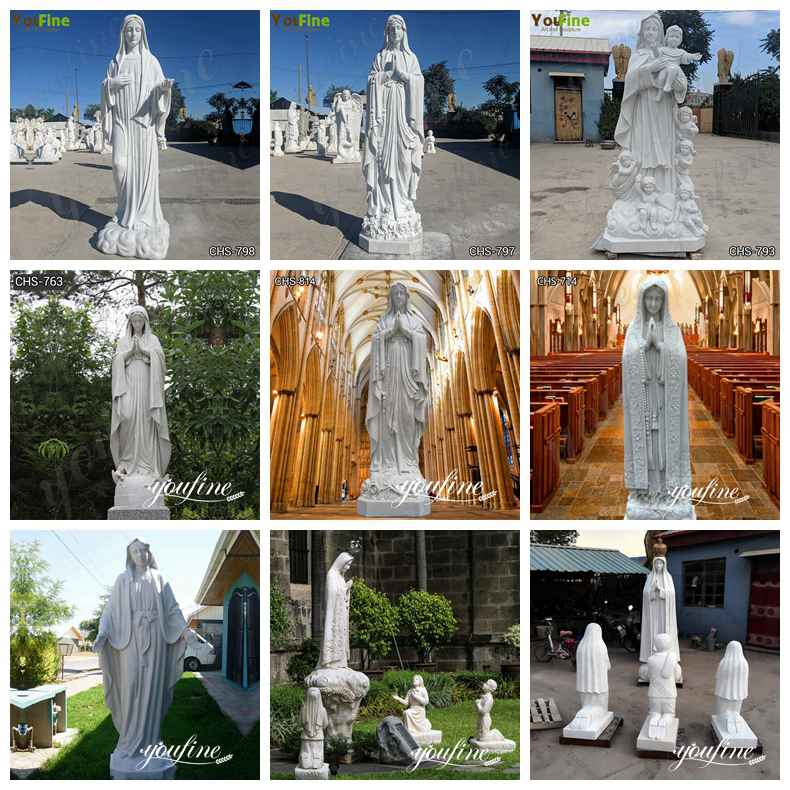 Religious Marble Our Lady of Fatima Statue for Sale