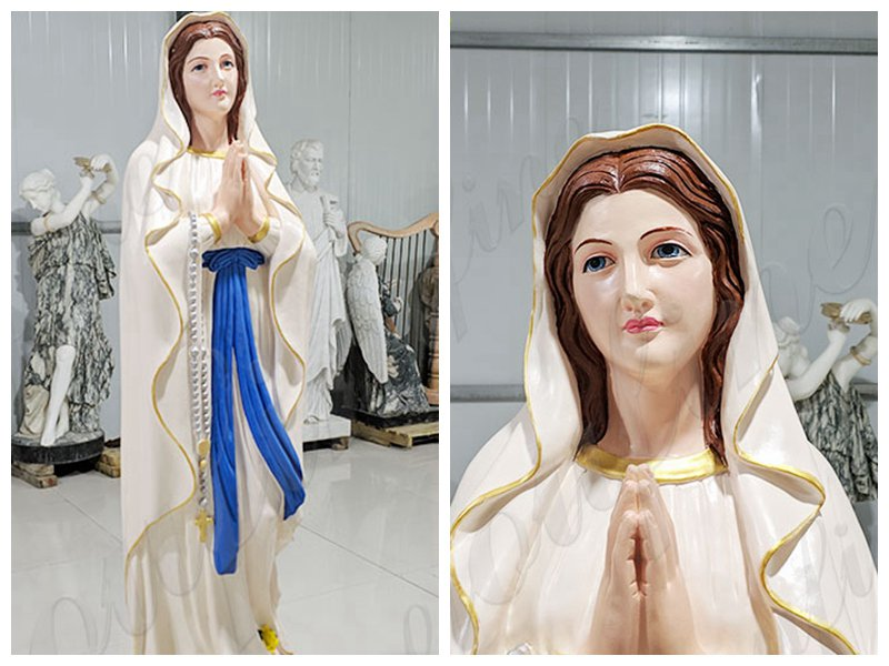 Catholic Church Marble Our Lady of Lourdes Statue Outdoor or Indoor Decor