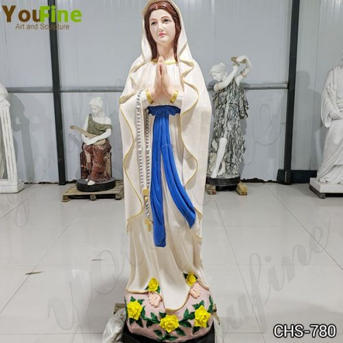 Catholic Church Marble Our Lady of Lourdes Statue Outdoor or Indoor Decor for Sale