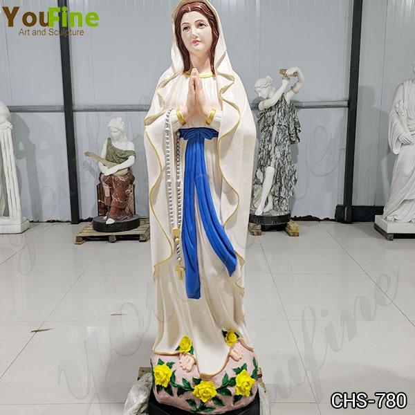 Catholic Church Marble Our Lady of Lourdes Statue Outdoor or Indoor Decor for Sale CHS-780