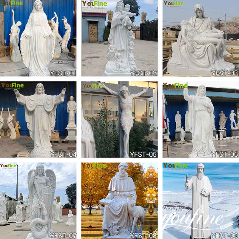 Catholic Church Marble Statue Outdoor or Indoor Decor for Sale