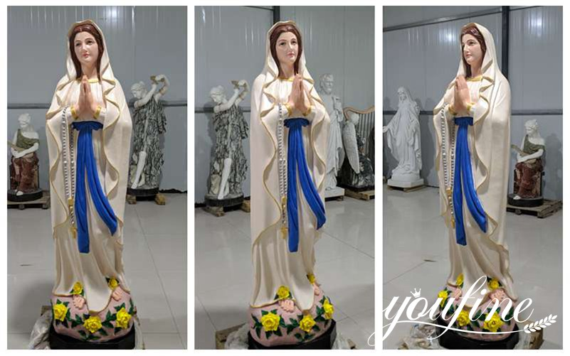Church Marble Our Lady of Lourdes Statue Outdoor or Indoor Decor for Sale