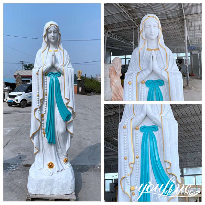 Life Size Marble Outdoor Our Lady of Lourdes Statue for Sale