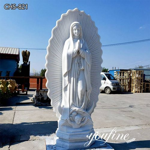 Natural Marble Life Size Our Lady of Guadalupe Statue Church Decor for Sale