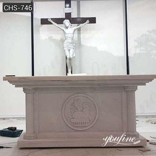 Customize Marble Altar Table Catholic Church Decor for Sale