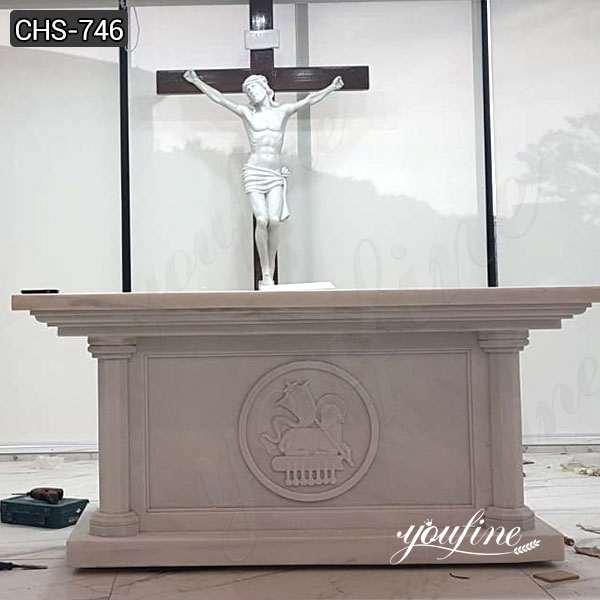 Customize Marble Altar Table Catholic Church Decor for Sale CHS-746