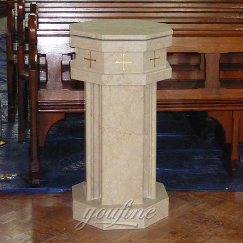 Hand-Carved Classical Marble Church Pulpit for Sale CHS-337